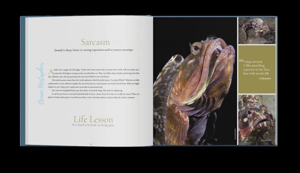 Ocean Metaphor Book Spread: Sarcatic Fringehead